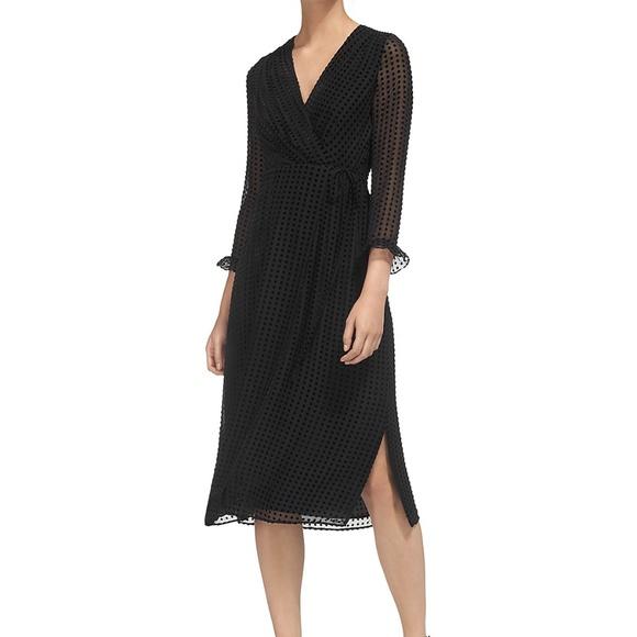 030e0d24a78 Whistles Dresses   New Venus Velvet Spot Wrap Dress   Poshmark